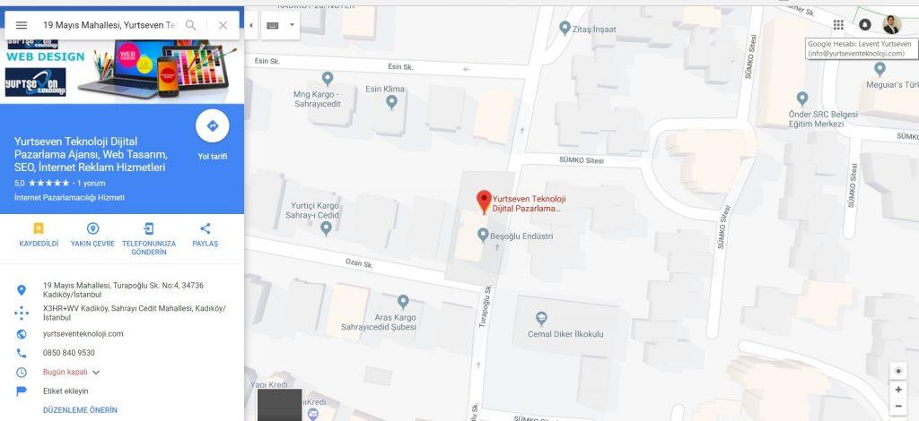 google maps kaydı